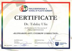 Сертифікати Талалай Ю.В.